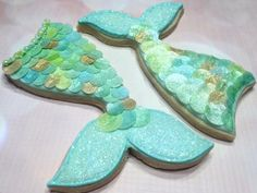Mermaid Tails ~ Airbrushed Wafer Paper Fish Scales