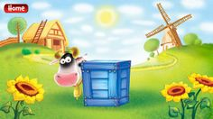 Big Blue Box Farm ($0.99) a digital game of peek a boo – using the element of surprise to identify images and sounds whilst improving speech development through cognitive play and repetition. Fine motor skills are developed through tapping on the screen and moving puzzle pieces around.