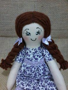 Arte Alegria artesanatos: Boneca de pano para brincar