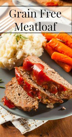 Grain Free Meatloaf - {Paleo, Primal, Real Food, Traditional Foods, Grain Free Recipes, Gluten Free Recipes, Ground Beef Recipes, Dinner Recipes}