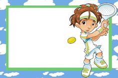 Imprimibles de tenista.