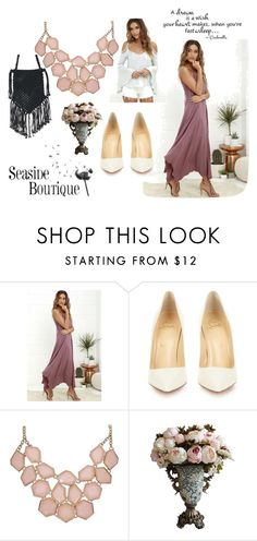 """seaside is the bestside"" by jaciika ❤ liked on Polyvore featuring Christian Louboutin, women's clothing, women, female, woman, misses and juniors"
