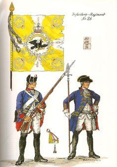 Prussia; Infantry Regiment Nr.26, c.1750 by G.Donn