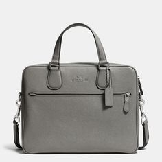 COACH Mens Leather Business Bags   Coach Hudson Slim Brief In Crossgrain Leather
