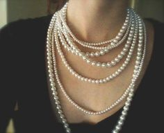 If I wasn't on a College Student budget!!! I need a cheap dup of this... Multi Strand Pearl Necklace - Two Ways LONG PEARL NECKLACE - Statement Necklace ($65.00) - Svpply