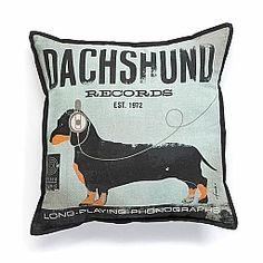 DR DACHSHUND PILLOW S : Shop Dog Boutique