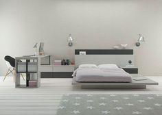 Habitación para jóvenes con tatami de lamas