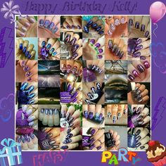 @Regrann from @cheekynailmonkey -  Happy birthday to my Sis Kelly @kpnailexpressions! Know that I love you and that many of us here on ig love you too. That is why Tijana @nailart_t and I have gathered some special ladies to help celebrate your special day with purple storm or festive themed mani's. For those of you who don't know Kelly and her hubby are actually avid (that is the right adjective no? Lol or is it crazy assed?) storm chasers. Go check out some storm pics (which I took the…
