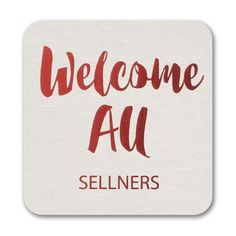 Welcome - Coaster. Available at Persnickety Invitation Studio.