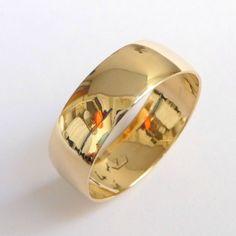Mens wedding band gold wedding ring traditional by havalazar, $240.00
