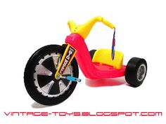 Remember when toys were for everybody, and not either pinkified for girls or soldier-ified for boys?  I also loved my Big Wheel.  The day I pulled it out to play with after winter was finally over, and discovered I'd outgrown it was a sad sad day.