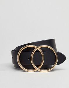 Eddie Bauer Black Designer Leather Belt With Steel Buckle Made In England UK New