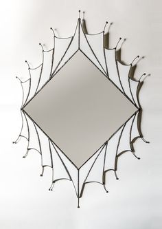 Art Deco Mirror by OrchidStainedGlass on Etsy