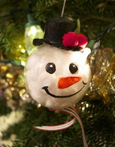DIY Snowman Ornament from @lindeekat | Handmade Ornament Ideas