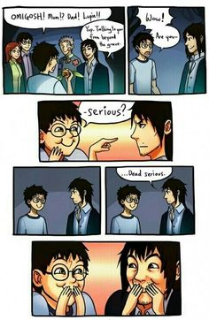 The moment Sirius Black realised Harry was his godchild truly. Harry Potter Comics, Harry Potter Puns, Harry Potter Universal, Funny Harry Potter Pics, Harry Potter Musical, Fanart Harry Potter, Harry Potter Stories, Harry Potter Ships, Harry Potter Drawings