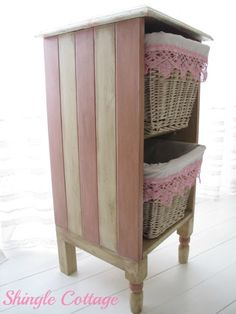 Magical Home Inspirations — Pretty re-purposed nightstand.