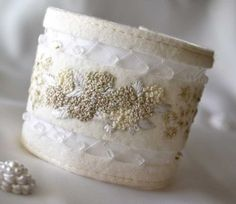 Getting married? Adorn your wrist with this beautiful and beautifully made bridal cuff.