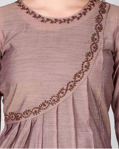 Salwar Neck Designs, Dress Neck Designs, Stylish Dress Designs, Designs For Dresses, Stylish Dresses, Blouse Designs, Simple Kurti Designs, New Kurti Designs, Kurta Designs Women