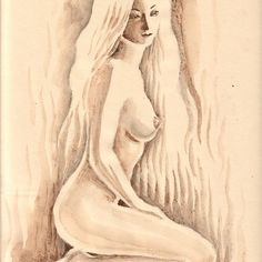 'Nude woman painted with coffee' by Corina Chirila Coffee Painting, Canvas Prints, Art Prints, Woman Painting, Long Hoodie, Chiffon Tops, Nude, T Shirts For Women, Photo Canvas Prints