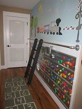 magnetic wall - easy & cheap *note: my home cannot handle a movable ladder...hospital bills will be out the roof