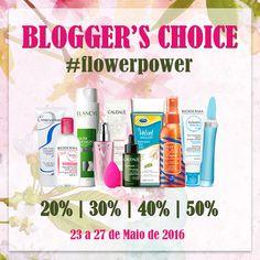 Amostras e Passatempos: Blogger's Choice #FlowerPower by Skin