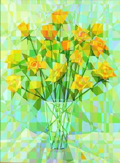 "Natasha Metaxa, ""Yellow Roses"" 120x90cm, oil on canvas"