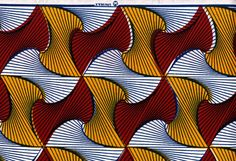This abstract pattern from the 1980s was inspired by paper used to wrap meat in a French butcher.