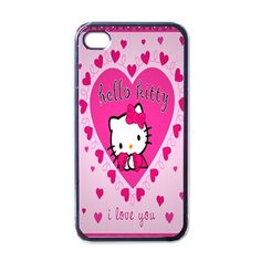 iPhone Case - Hello Kitty Cute Pink Kitty Love - iPhone 4 Case Cover