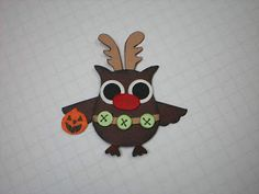 Barbara's World of Whimcees: A Halloween Get Well Card, A Rudolph Owl and the Owl Forest Poster Is Expanded Craft Paper Punches, Paper Punch Art, Owl Punch Cards, Owl Card, Paper Book, Stamping Up Cards, Get Well Cards, Halloween Cards, Craft Items