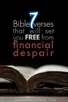 The 7 Bible verses will set you FREE from financial despair.