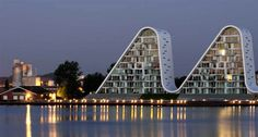 Night-The-Wave-In-Vejle-a-New-Denmark-Best-Architectural-Buildings-
