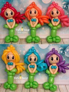 Balloon Arrangements, Balloon Animals, Sea Creatures, Under The Sea, Smurfs, Balloon Face, Princess Balloons, Sculptures, Birthdays