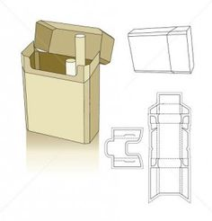 Cigarette carton box template                                                                                                                                                      More