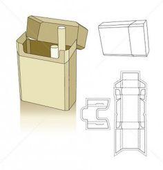 Cigarette carton box template