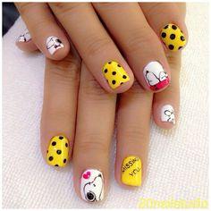 snoopy by  20nailstudio #nail #nails #nailart