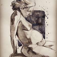 Risultati immagini per pregnancy watercolour art