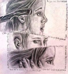 Tris Prior showing her bravery Divergent Drawings, Divergent Fan Art, Divergent Fandom, Divergent Trilogy, Divergent Insurgent Allegiant, Annoying Girls, Tris Prior, Knife Throwing, What To Draw