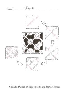 """#Zentangle pattern """"Facade"""" by Rick Roberts and Marie Thomas #square"""