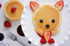 Breakfast For Kids: Pancake Bear--The cuteness factor is off the charts (via @Patti Stamp Parents)