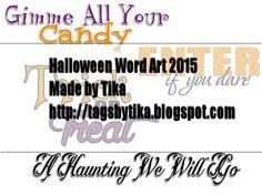 Tags By Tika: FTU Halloween Word Art
