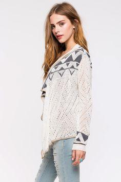 Кардиган Размеры: S, M, L Цвет: белый с принтом Цена: 1087 руб.     #одежда #женщинам #кардиганы #коопт