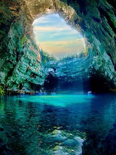 Melissani Cave Lake, Kefalonia Greece