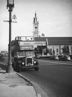 Yesterday's Print — Double decker bus, Wilshire, Los Angeles, 1937