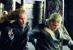 This is the epic Legolas punch. It's on my list of top battle moves. Deal with it.<<< that there is an interesting face