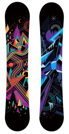 Graffiti art on skate boards.