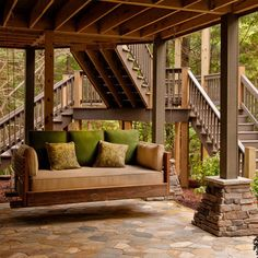 Under Deck Design Ideas, Pictures, Remodel, and Decor - page 6 || Only thing missing is underdecking to protect under deck patio from rain.
