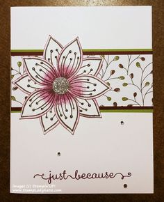 Friends and Flowers - Just Because by katie-j - Cards and Paper Crafts at Splitcoaststampers