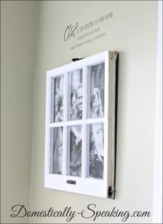 Window Large Photo Display for less than $5 ~ great Christmas gift idea!