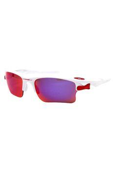 Oakley แว่นกันแดดกีฬาเปลี่ยนเลนส์ได้ Fast Jacket XL Polarized เฟรม Polished  White เลนส์2 051e66edb4