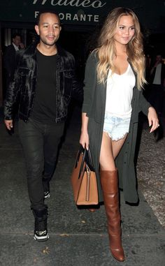 John Legend & Chrissy Teigen from The Big Picture: Today's Hot Pics  The lovebirds leave Madeo restaurant in L.A.